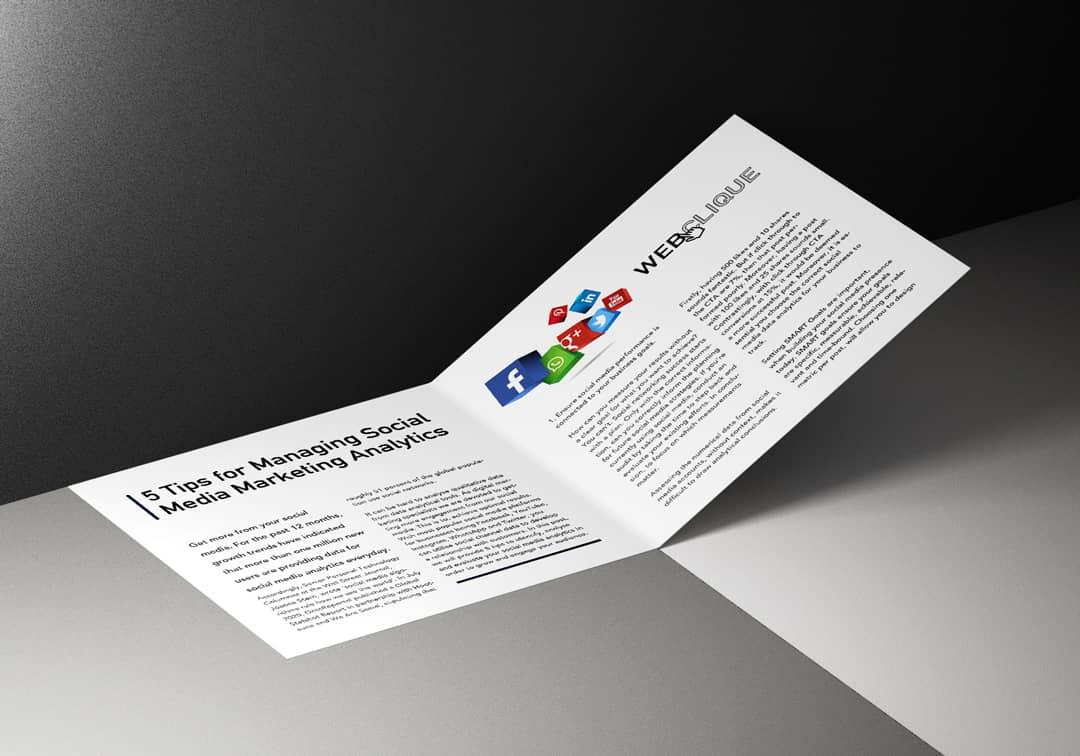 Booklet for 5 Tips for Social media Analytics